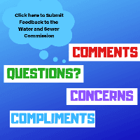 Water and Sewer Commission Feedback